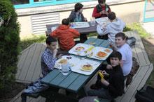 terrasse restaurant scolaire collège lycée Saint Jean et La Croix